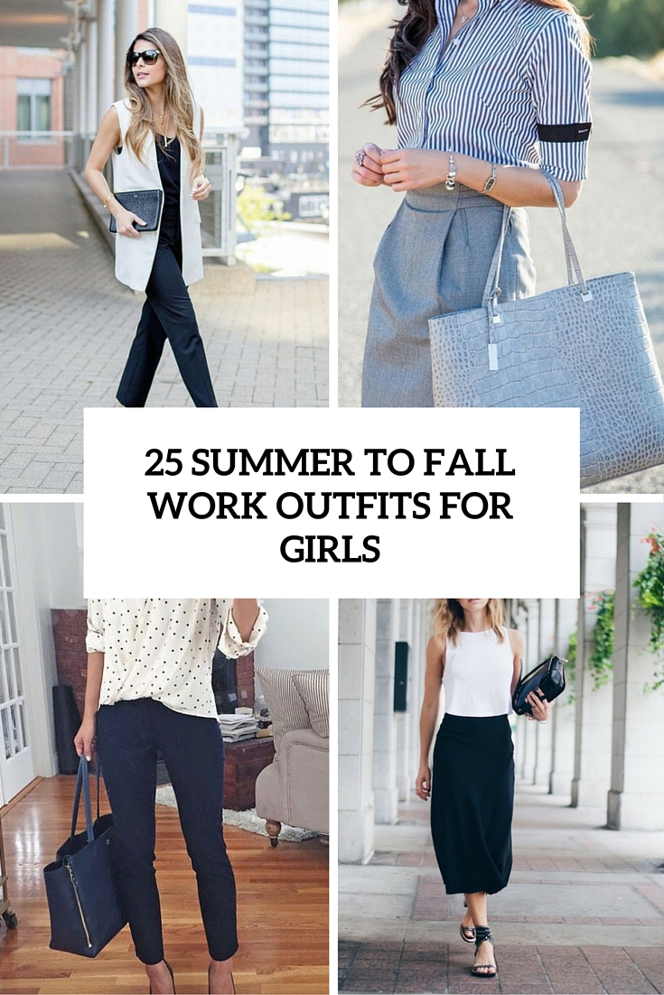 summer to fall work outfits for girls cover