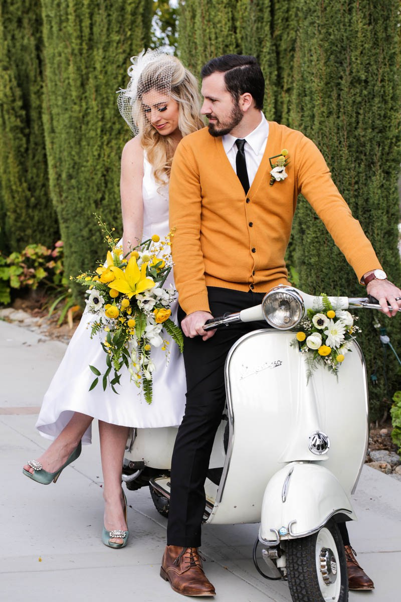 This mid century modern shoot was sprinkled with yellow and turquoise touches