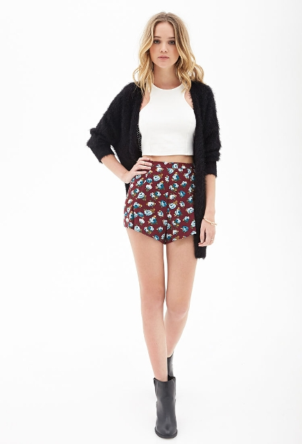 Shorts with halter top and jacket