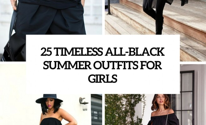 f5d25c4bd 25 Timeless All-Black Summer Outfits For Girls