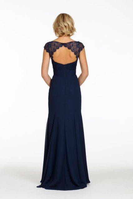 Elegant backless maxi dress with lace
