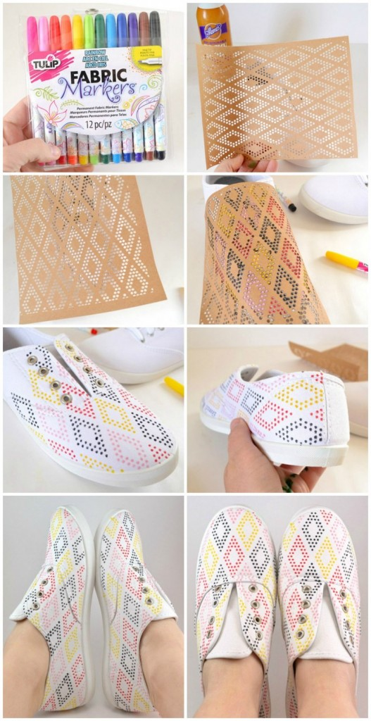 #13 - Dot-patterned Sneakers