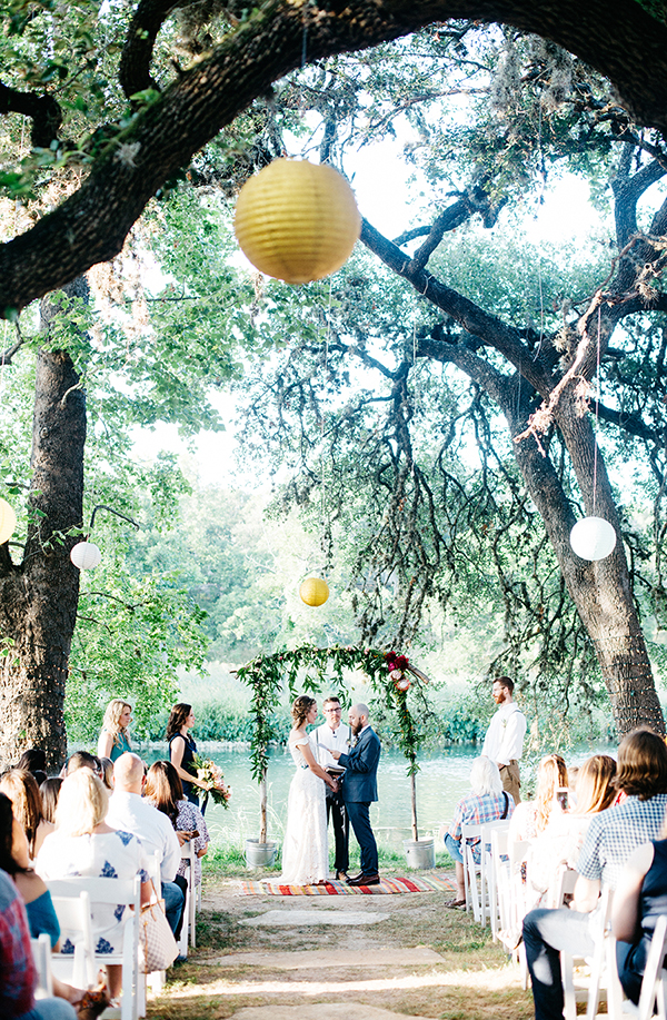 outdoor weddings in Austin - photo by Veronica Ellerman Photography http://ruffledblog.com/vibrant-bohemian-wedding-inspiration