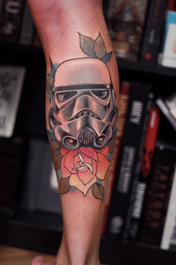colorful Stormtrooper on an arm