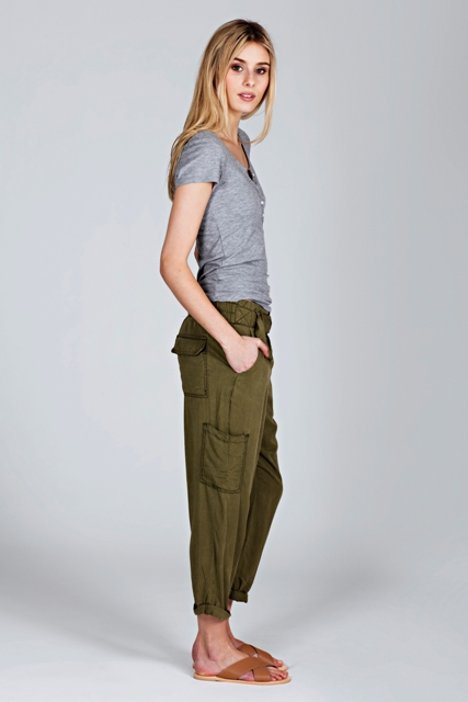Comfy look with pants, sandals and shirt