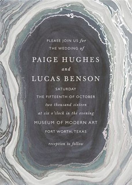 creative agate grey invitations