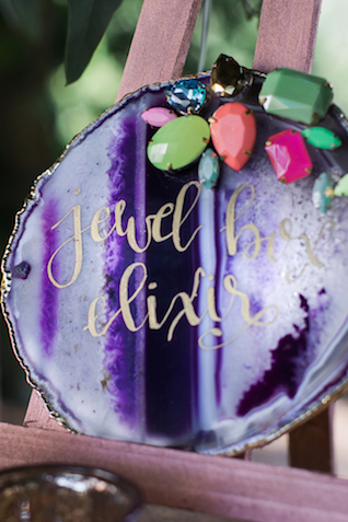 Rhinestone and geode wedding ideas | Grant & Deb Photographers