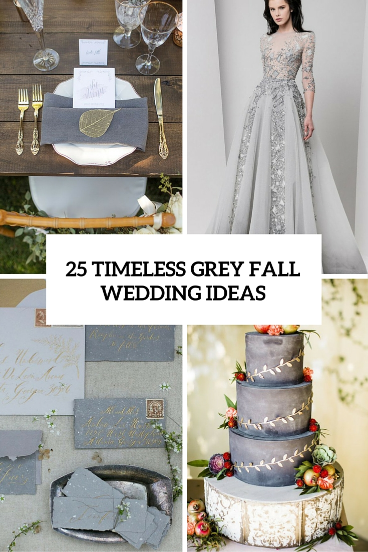 timeless grey fall wedding ideas cover
