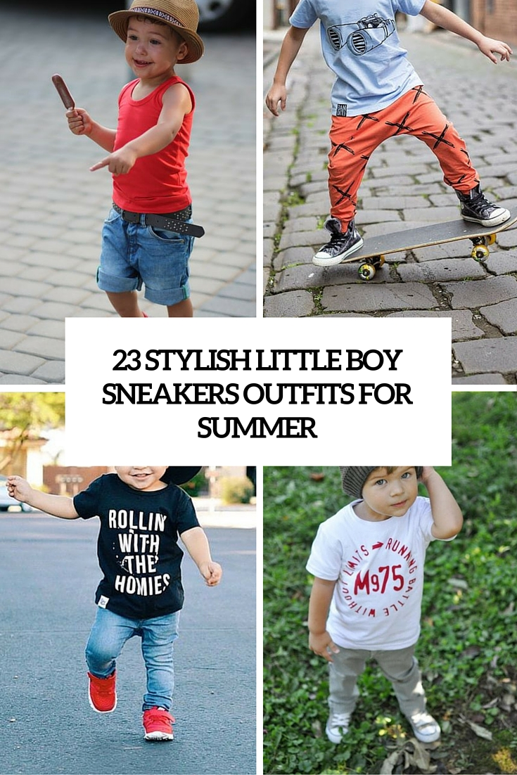 little boy sneakers outfits for summer cover