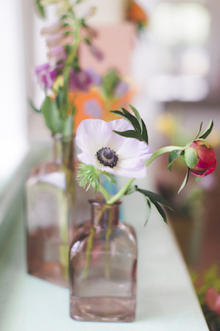 Bud vases | Stephanie Yonce Photography