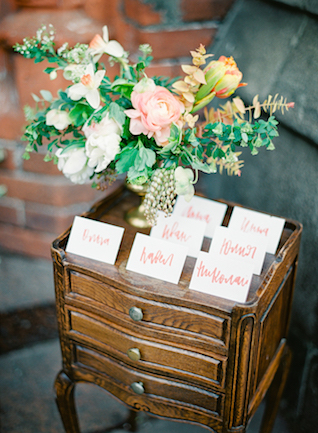 Escort card display | Kir & Ira Photography