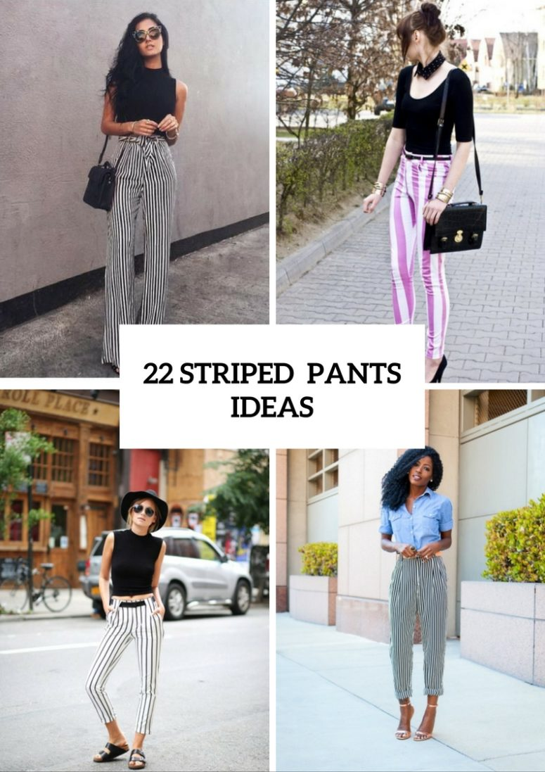 Comfy Outfits With Striped Pants To Try