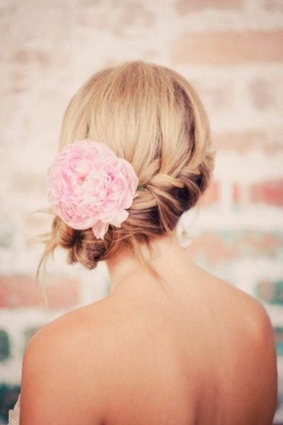 #17 - Messy Braided Updo Hairstyle for Weddings