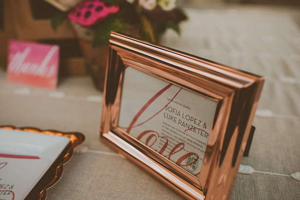 Rose Gold Wedding Detail - Cristina Navarro Photography