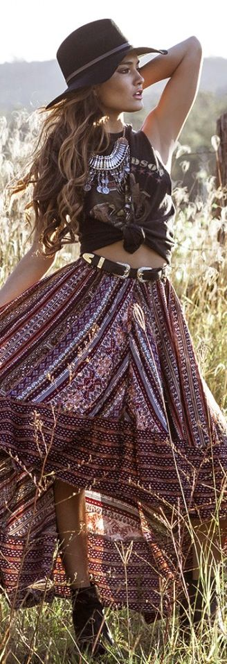 deas How to Wear Hippie Skirts. (2)