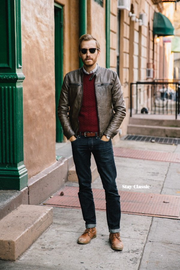 Ideas for Men to wear Leather Jackets (5)