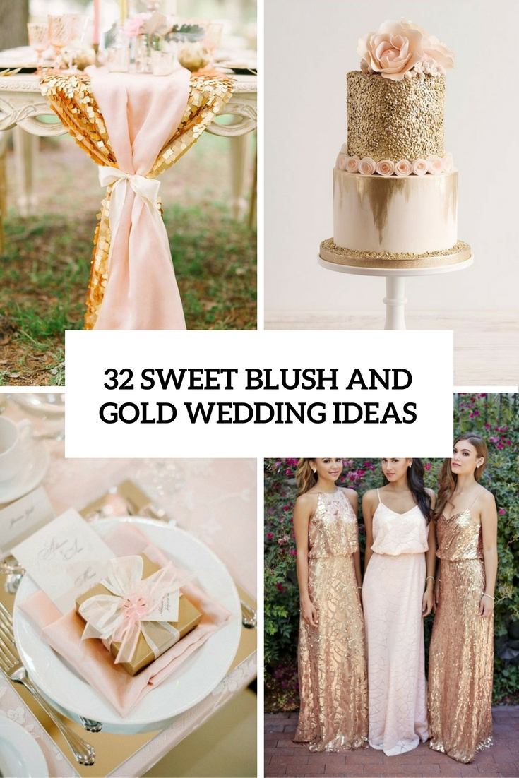 sweet blush and gold wedding ideas cover