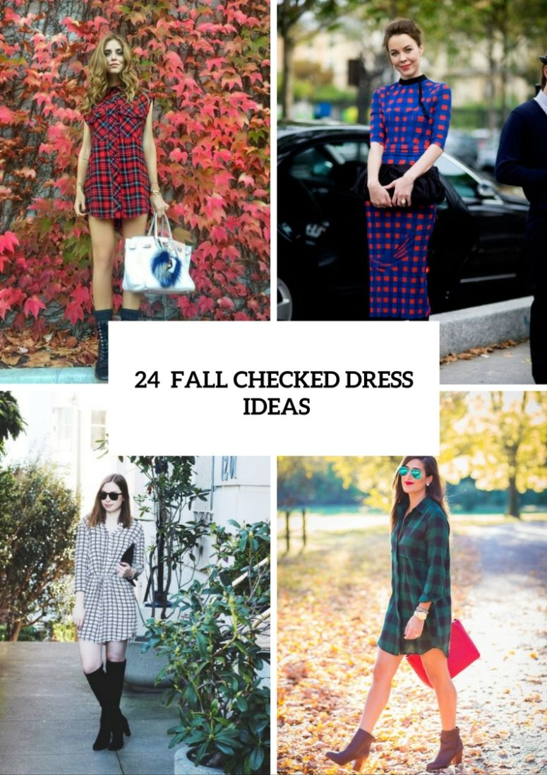 Stylish And Cozy Checked Dress Ideas For This Fall