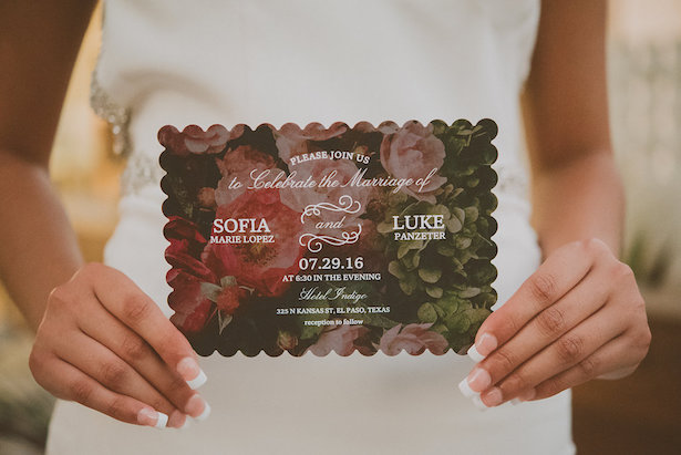 Floral Wedding Invitation- Cristina Navarro Photography