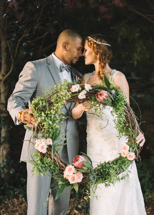 Floral wreath for wedding | Palafox Street Weddings