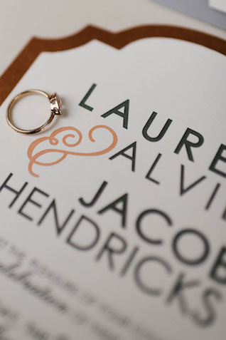 Coffee-themed wedding invitations | Lauren Rae Photography