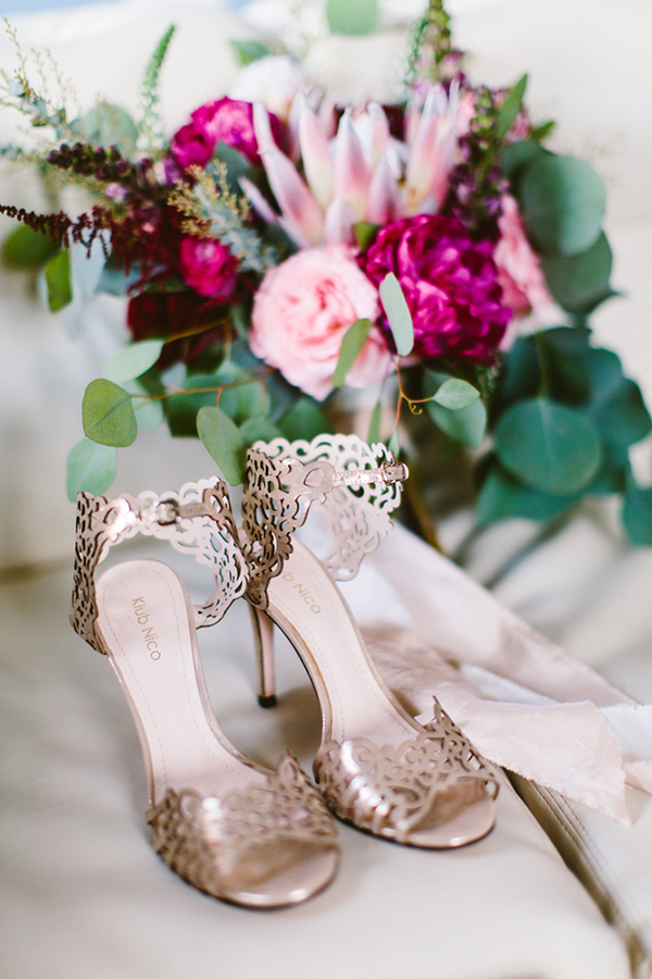 wedding shoes - photo by Redfield Photography http://ruffledblog.com/romantic-philadelphia-horticulture-center-wedding