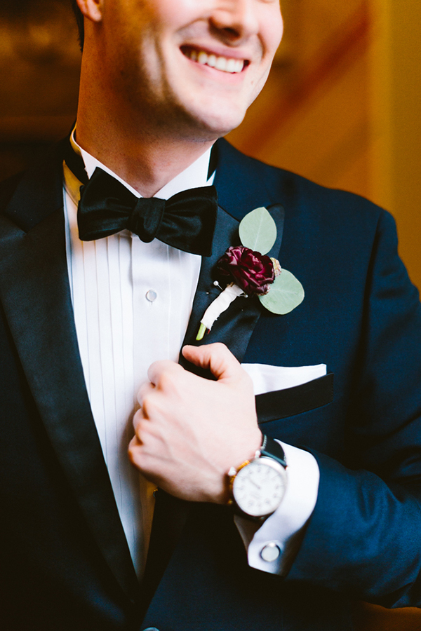 groom's boutonniere - photo by Redfield Photography http://ruffledblog.com/romantic-philadelphia-horticulture-center-wedding