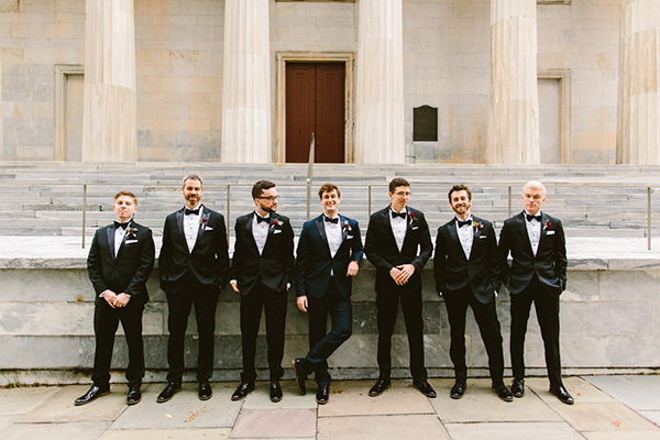 groomsmen's attire - photo by Redfield Photography http://ruffledblog.com/romantic-philadelphia-horticulture-center-wedding