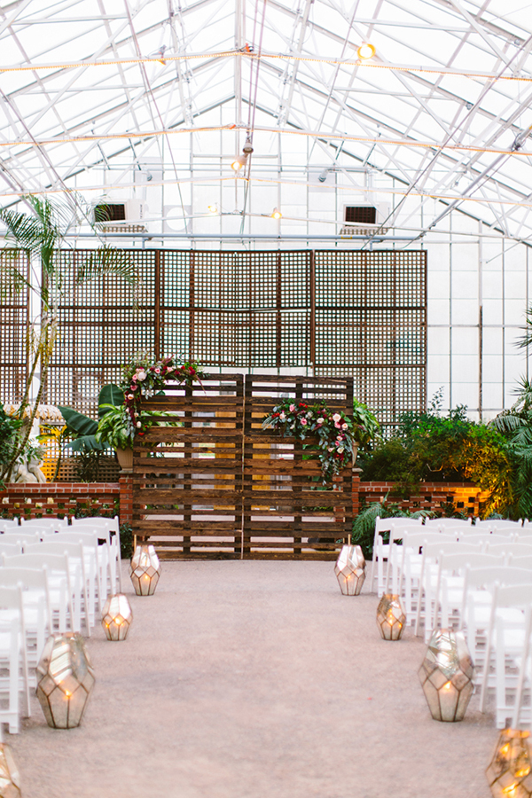 wedding backdrops - photo by Redfield Photography http://ruffledblog.com/romantic-philadelphia-horticulture-center-wedding