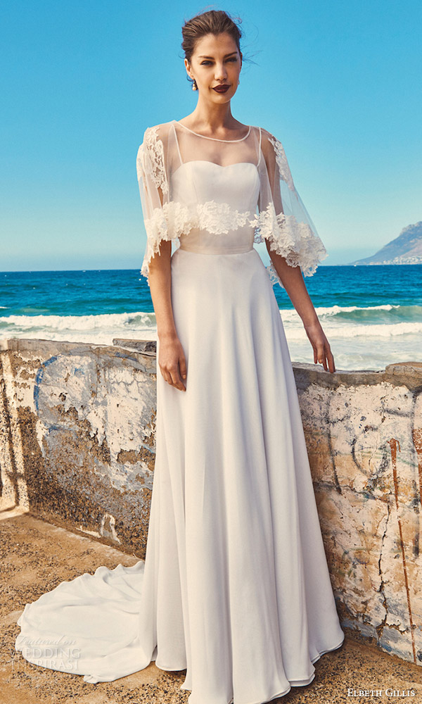 elbeth gillis milk honey 2017 bridal separates wedding dress (lily cape linda top shelby skirt) mv