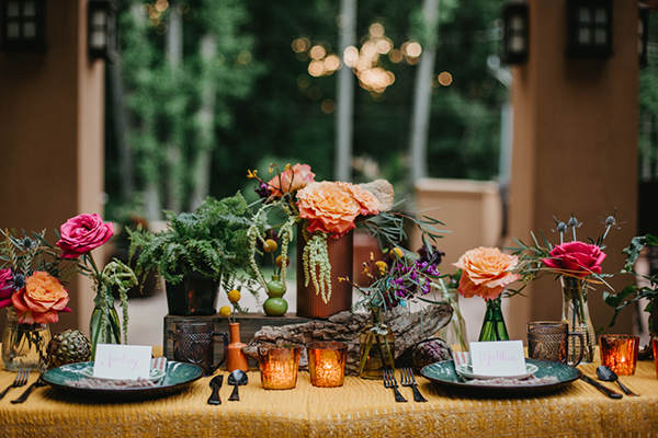 pink and orange weddings - photo by L.A. Birdie Photography http://ruffledblog.com/colorful-summer-camp-wedding-editorial