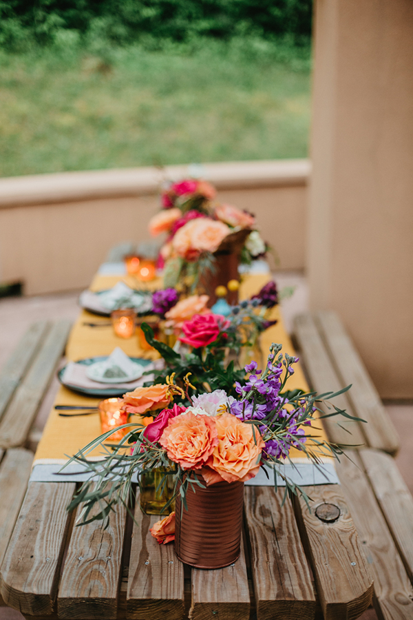 colorful summer weddings - photo by L.A. Birdie Photography http://ruffledblog.com/colorful-summer-camp-wedding-editorial