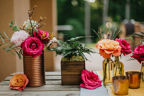 hot pink wedding ideas - photo by L.A. Birdie Photography http://ruffledblog.com/colorful-summer-camp-wedding-editorial