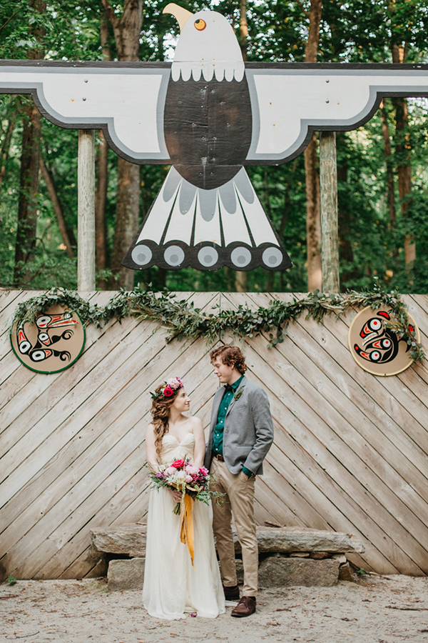 whimsical wedding ideas - photo by L.A. Birdie Photography http://ruffledblog.com/colorful-summer-camp-wedding-editorial
