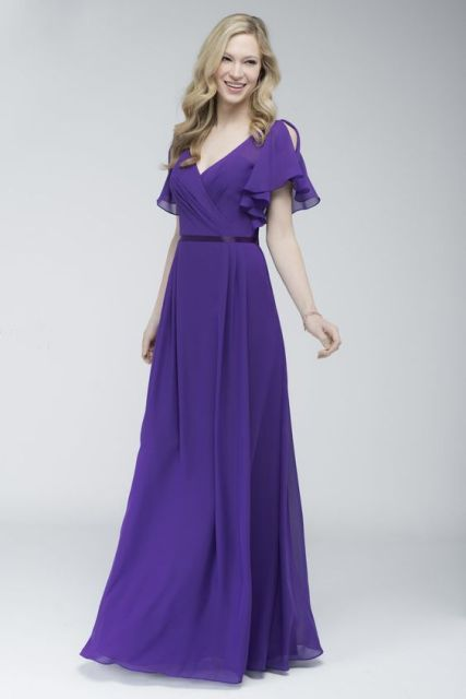 Wrap maxi dress with silk belt