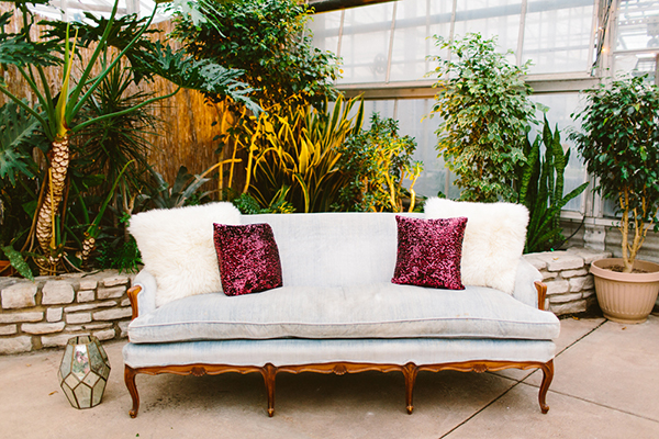 wedding lounge areas - photo by Redfield Photography http://ruffledblog.com/romantic-philadelphia-horticulture-center-wedding