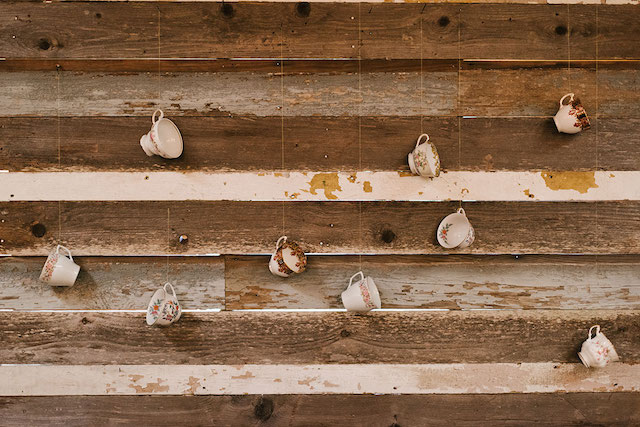 Vintage teacup backdrop | Lauren Rae Photography