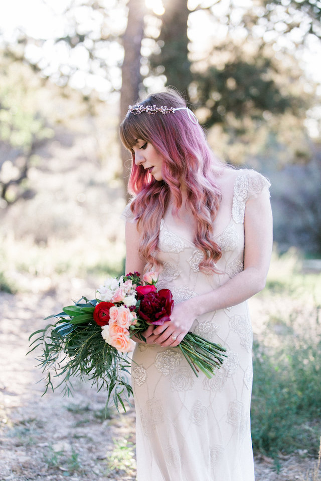 Bride with red hair | Molly Lichten Photography