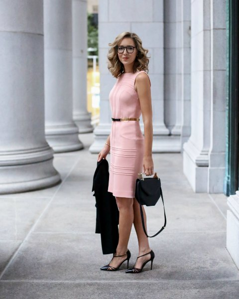 With black shoes, belt and bag (awesome outfit for an office)