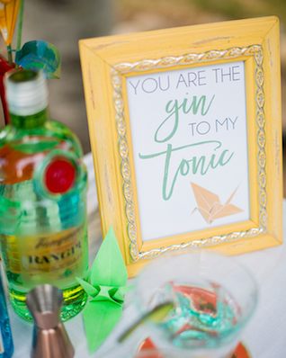 Gin and Tonic station | Kelly Marie Photography