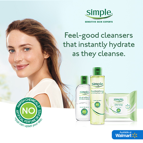 Simple skincare's newest line of cleansers gently and effectively remove stubborn makeup with skin-loving ingredients. Skin is left feeling clean, instantly refreshed and hydrated! Check out the new products you can find now at Walmart! ‪#‎WMSimplyClean‬ #ad
