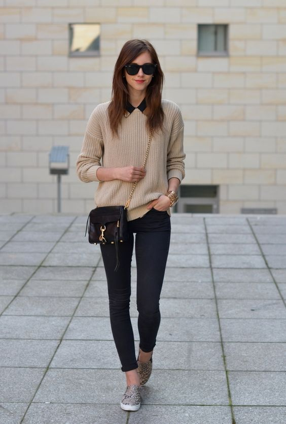 Cute Outfit Ideas To Wear With Slip-On Sneakers (16)