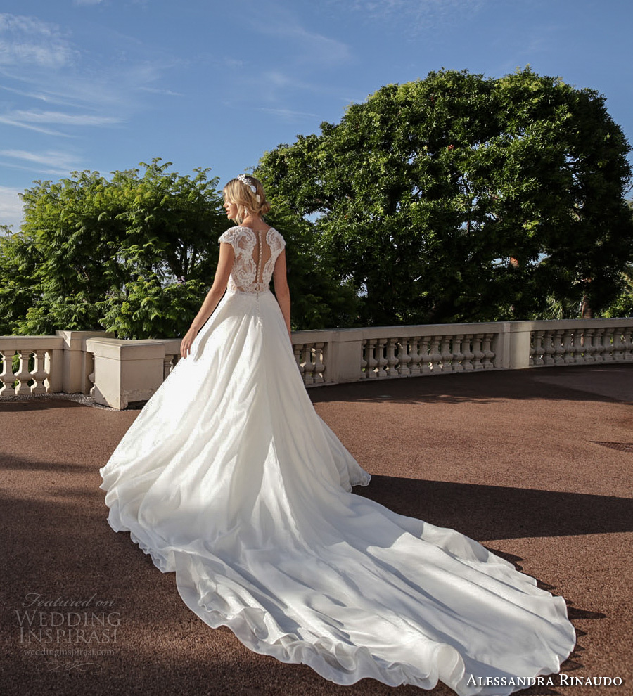 alessandra rinaudo 2017 bridal cap sleeves illusion bateau deep plunging v neck heavily embellished bodice princess romantic a ling wedding dress illusion back royal train (2) bv