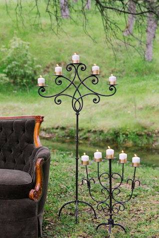 Wrought iron candelabras | Lumiére Visual Arts