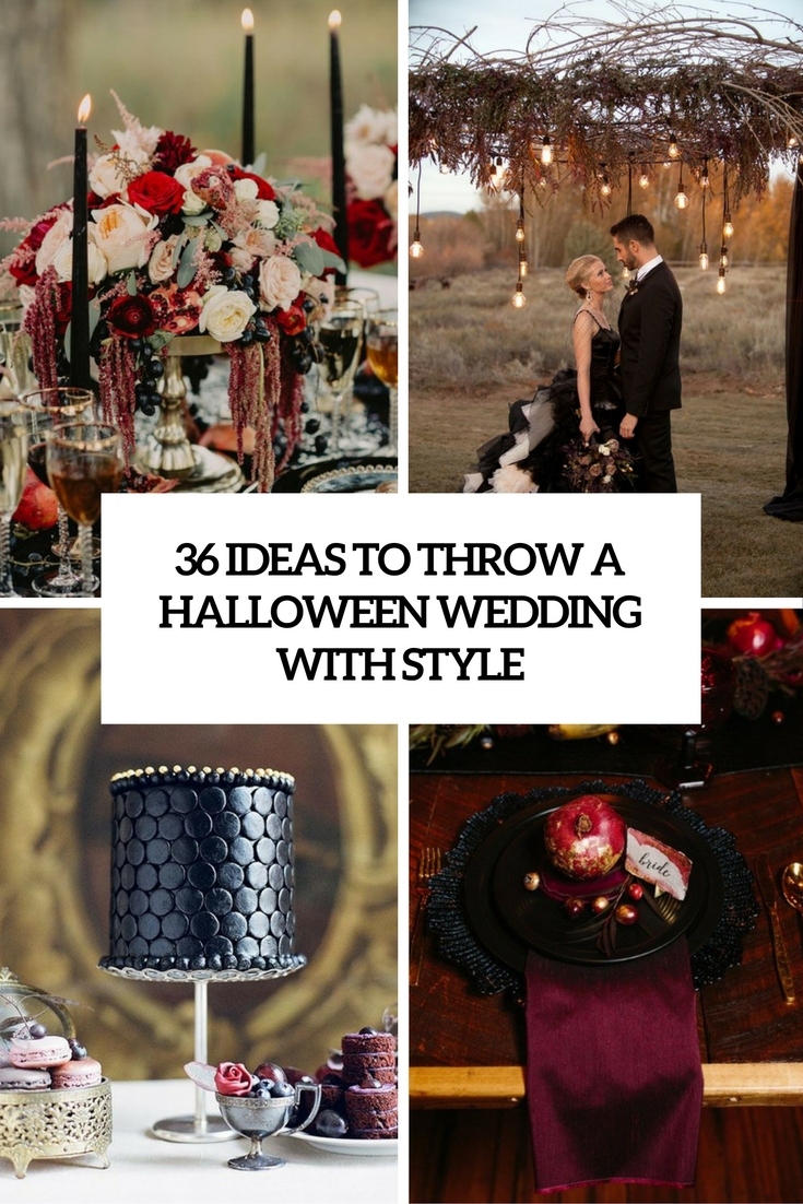 ideas to throw a halloween wedding with style cover
