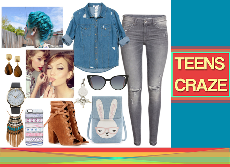 #7 - The Ripped Jeans and Denim Combo