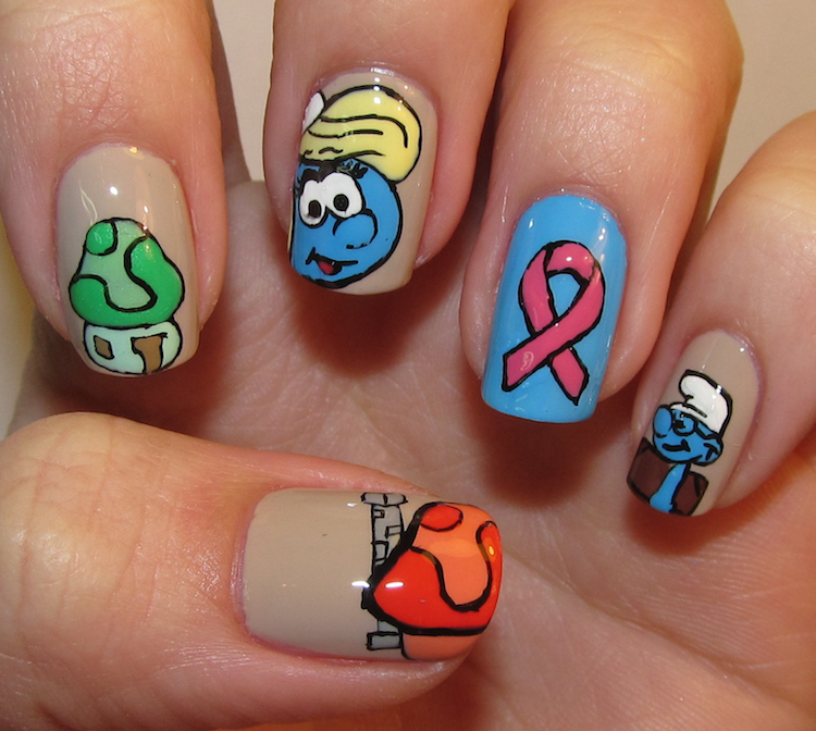 best funky nail art designs for girls (4)