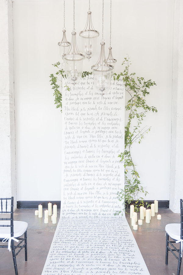 backdrop ideas - photo by Ryan & Alyssa Photography http://ruffledblog.com/french-couture-wedding-inspiration