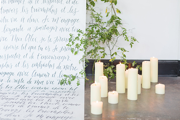 romantic wedding backdrops - photo by Ryan & Alyssa Photography http://ruffledblog.com/french-couture-wedding-inspiration