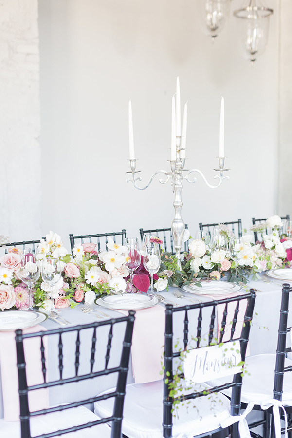 romantic wedding tables - photo by Ryan & Alyssa Photography http://ruffledblog.com/french-couture-wedding-inspiration